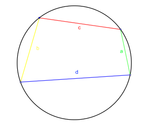 Quadrilateral in a circle