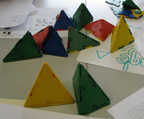 Some of hte tetrahedra foudn by Chris' group