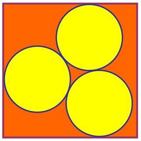 Three Circles in a Square
