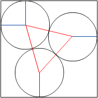 3 circles in a box