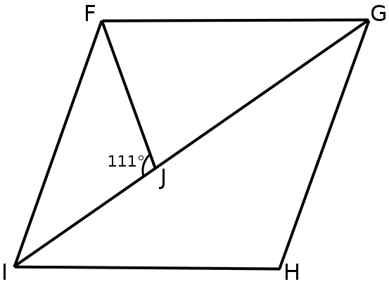 how to find diagonal of rhombus