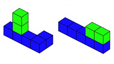 The activities in this feature all use interlocking cubes to help you think mathematically.