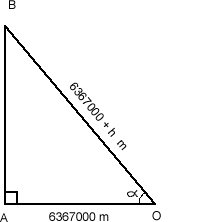 Right-angled triangle showing lengths