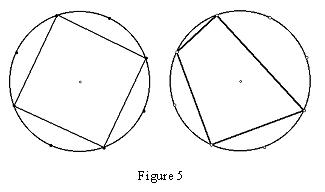 2 examples of quadrilaterals drawn in circles