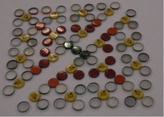 pattern of bottle tops