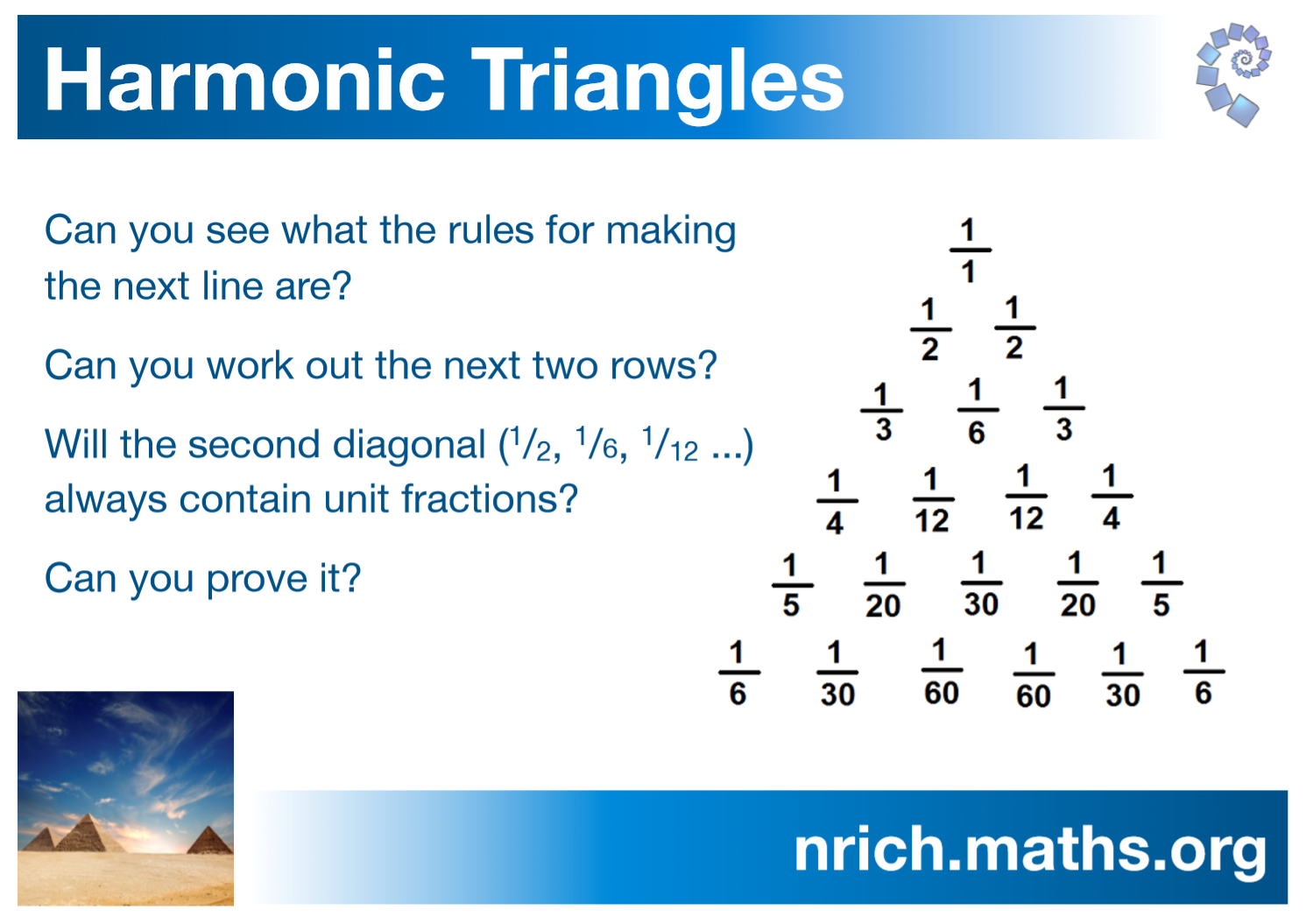 Harmonic Triangles Poster : nrich.maths.org