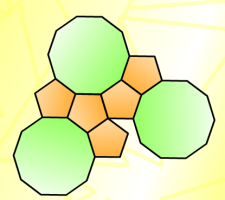 decagons and pentagons