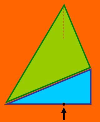 two connected right-angled triangles