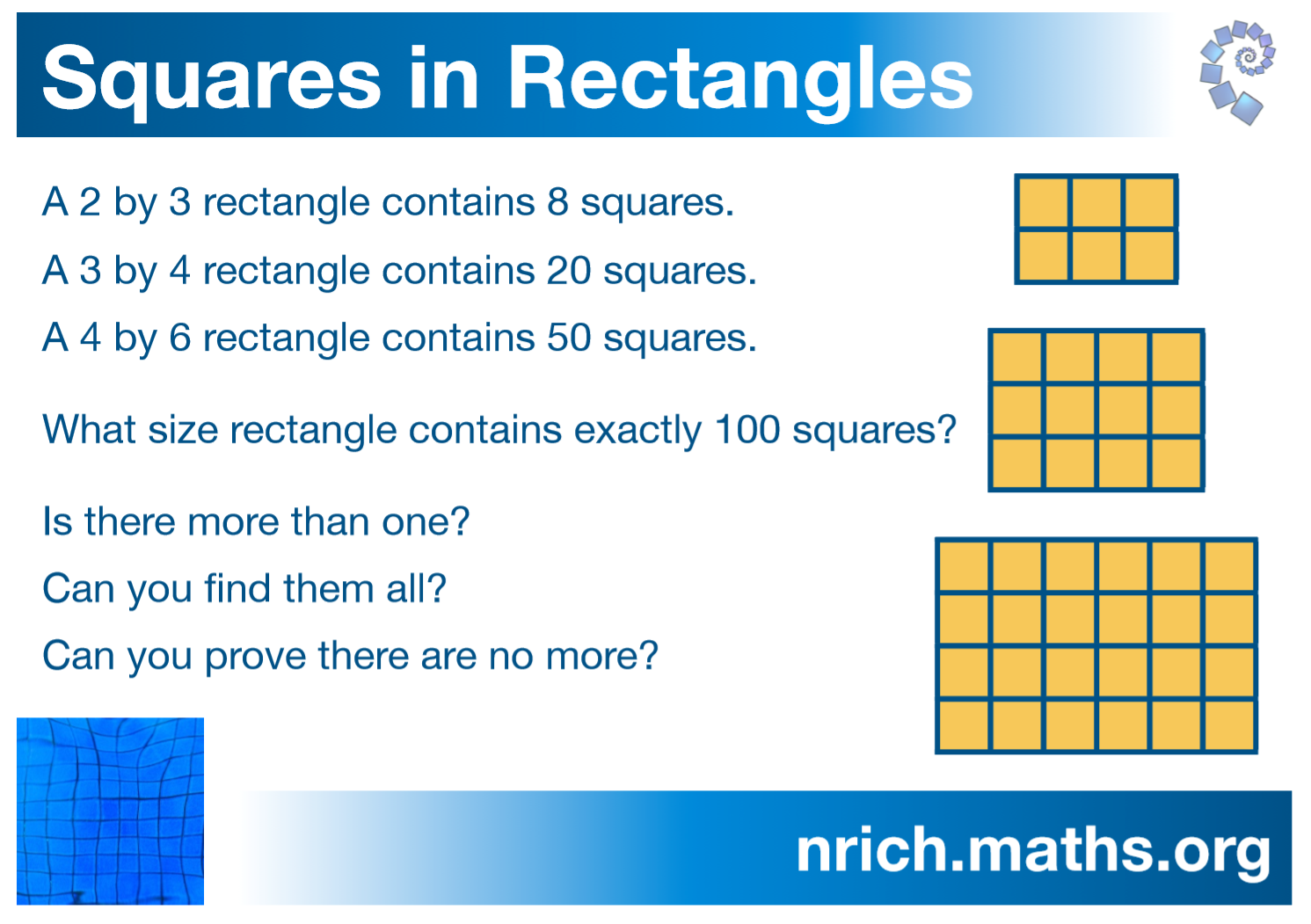 Squares in Rectangles Poster : nrich.maths.org