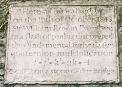 Plaque on Broom Bridge