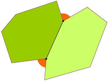 Two irregular polygons