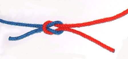 reef knot pulled tight