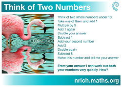 Think of Two Numbers Poster icon