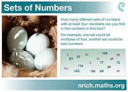 Sets of Numbers Poster icon
