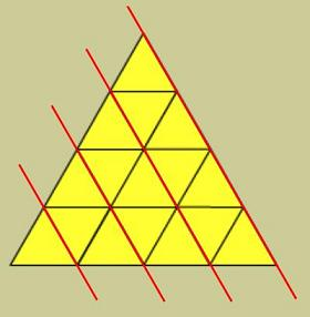 Equilateral triangles with section lines