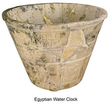Egyptian water clock