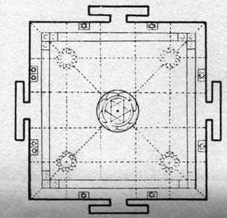 Yantra from a Hindu Temple