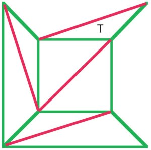 Net of a cube with edges removed