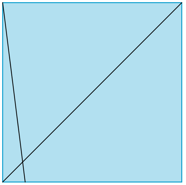 Diagonal and fold to one eighth