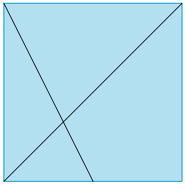 Diagonal and fold to midpoint
