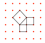 Pythagoras on 6x6 dots