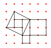 Pythagoras 2 on 6x6 dots