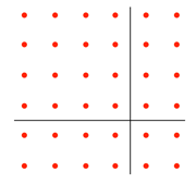 6x6 dots squares and rectangles