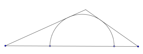 semicircle in triangle