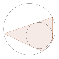 Example of a bicentric quadrilateral