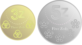 Proposed 3z and 5z coins