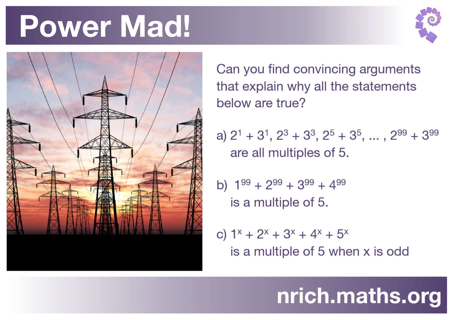Power Mad! Poster : nrich.maths.org