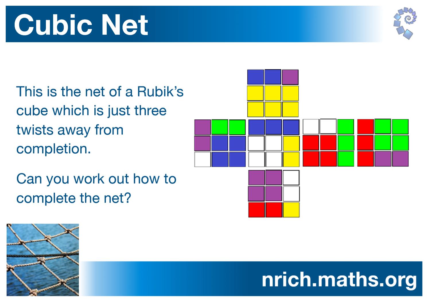 Cubic Net Poster : nrich.maths.org