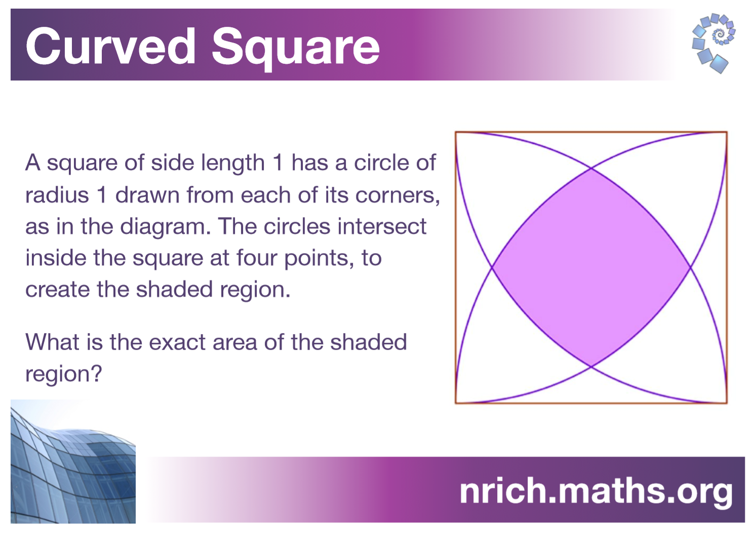 Curved Square Poster : nrich.maths.org