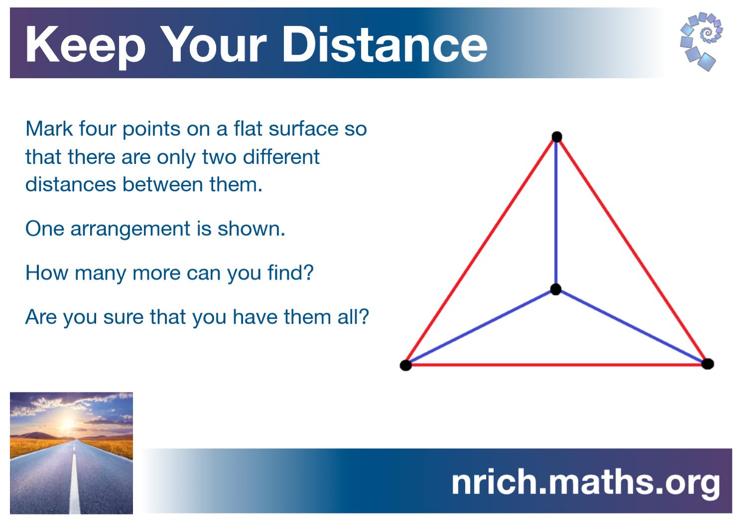 Keep Your Distance Poster : nrich.maths.org