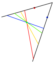 four triangles through 3 points
