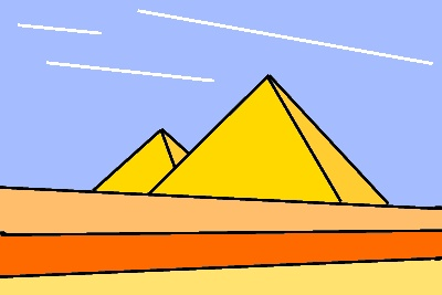 Abstract pyramid picture