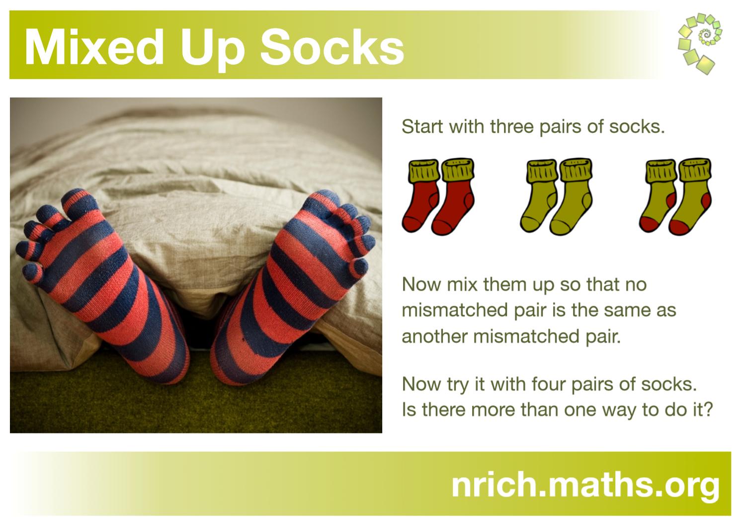 Mixed up Socks Poster : nrich.maths.org