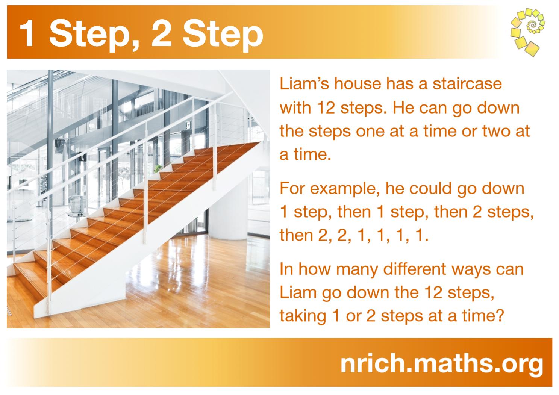 1 Step, 2 Step Poster : nrich.maths.org