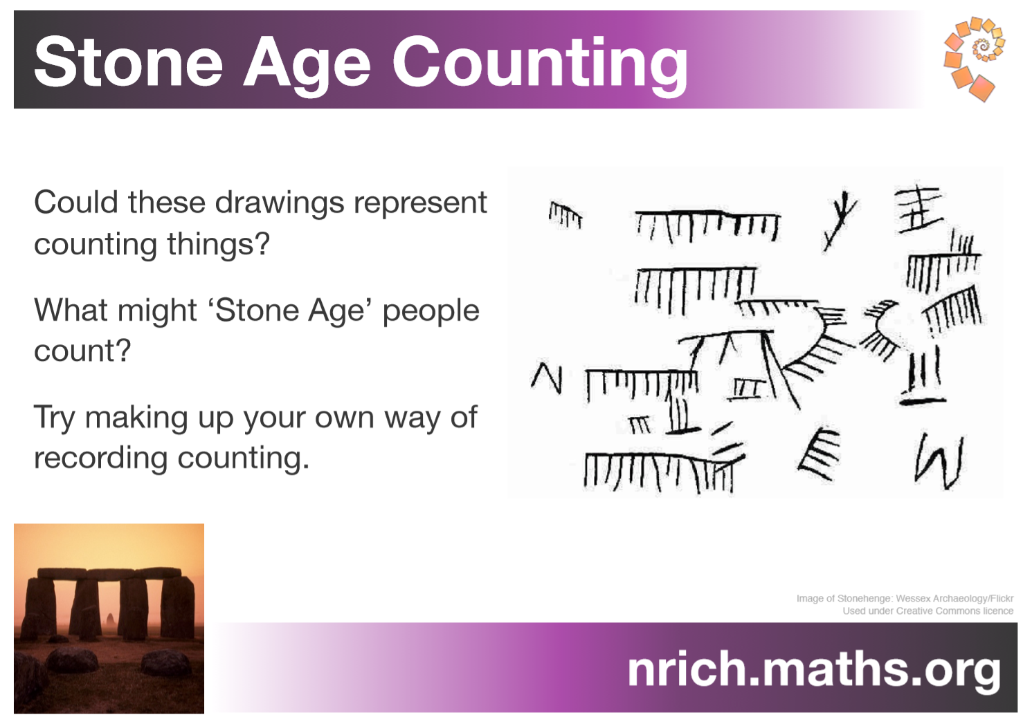 Stone Age Counting Poster : nrich.maths.org