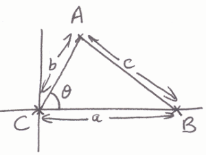 how to work out sine and cosine rule