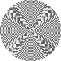 concentric circles showing Moire patterning
